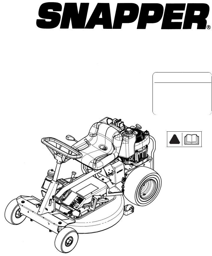 Snapper 7800787, 7800786, 7800785, 7800784 User Manual
