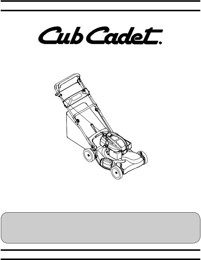 Cub cadet Cub Cadet Lawn Mower CC 46 ES, CC 46 ES User Manual