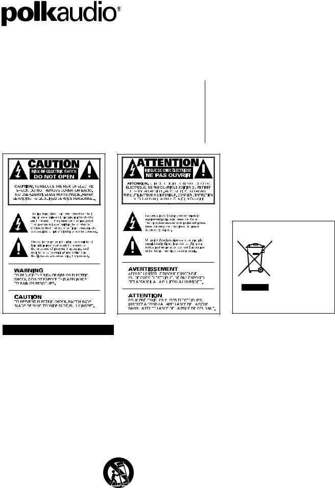 Polk Audio RM75-RM85-RM90 SERIES RM95, RM75, RM85, RM75