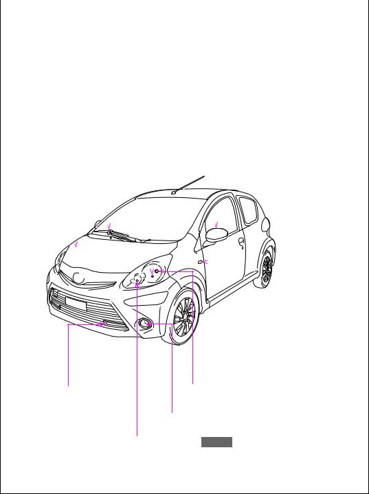 Toyota Aygo 2012, Aygo 2013 Owners Manual