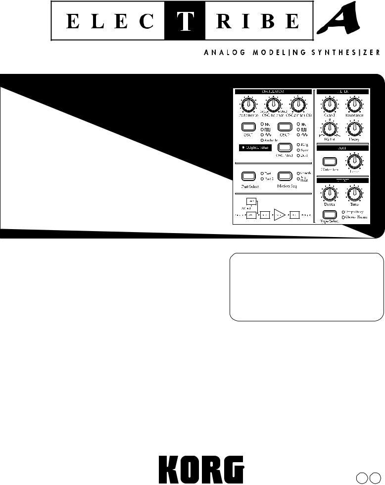 Korg Elec Tribe EA-1, EA-1 User Manual