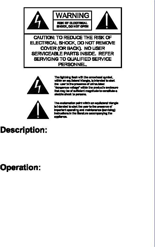 Jensen PA500 User Manual