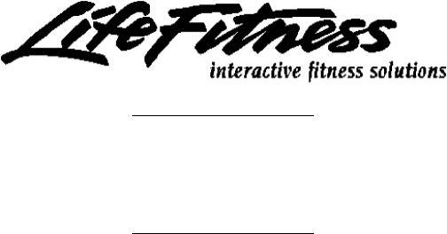 Life Fitness 9500HR User Manual