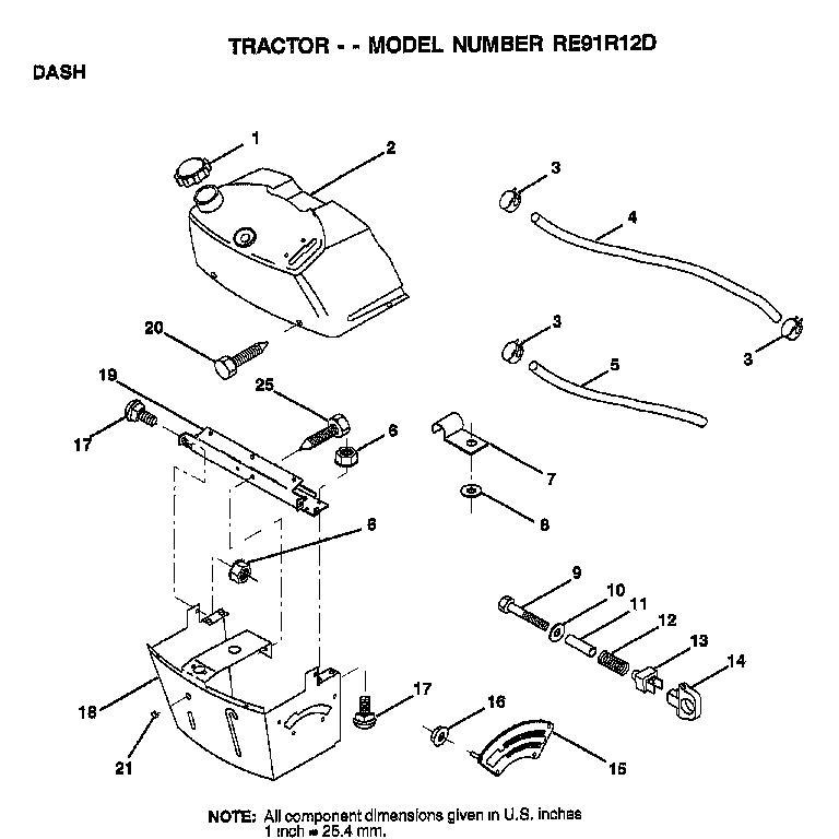 AYP RE91R12D Parts List