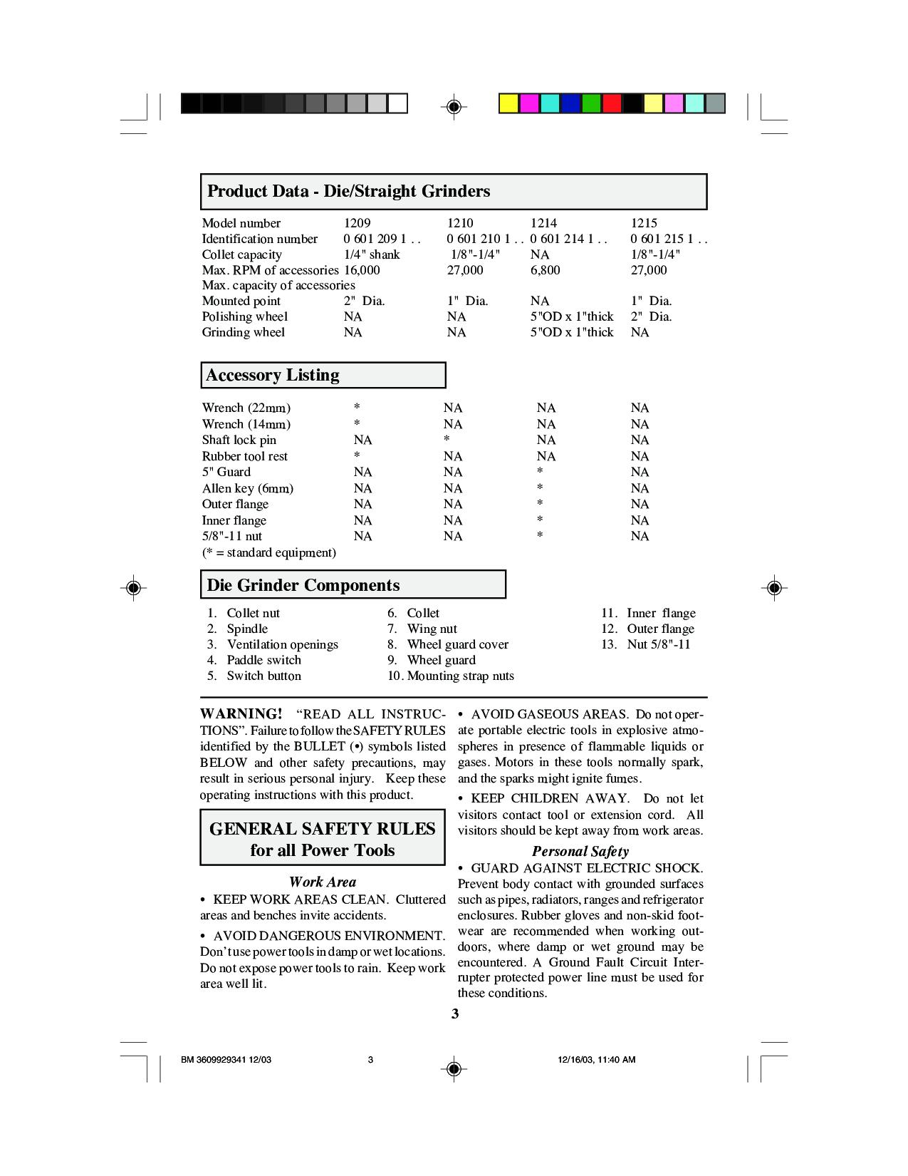 Bosch 1210, 1215, 1214, 1209 User Manual