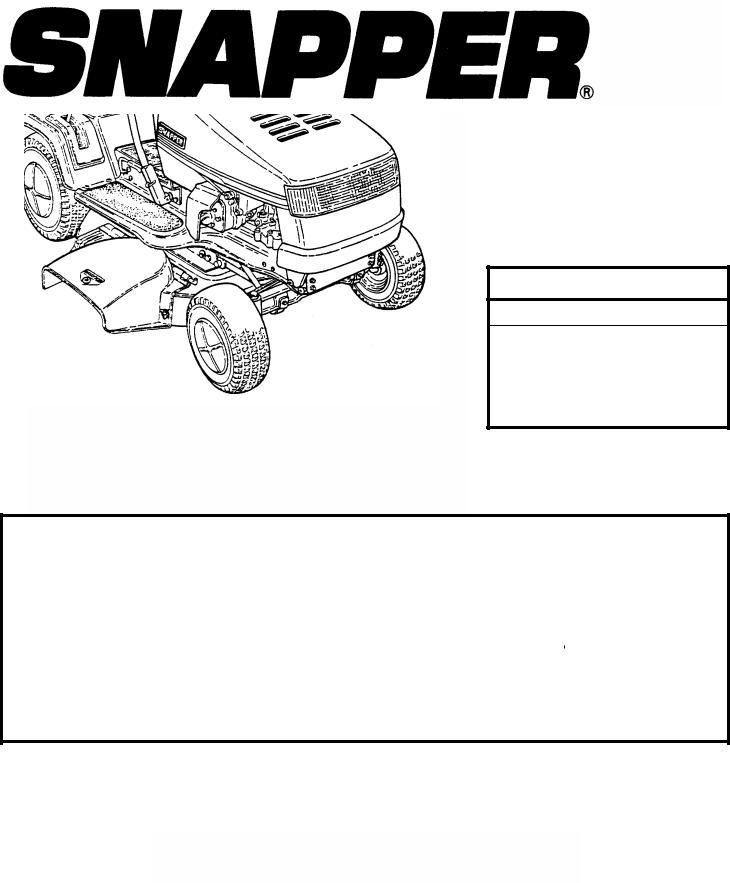 Snapper LT150H38GKV, WLT145H38GBV, LT145H38GBV User Manual