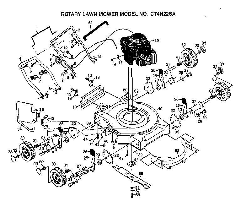 AYP CT4N225A Parts List