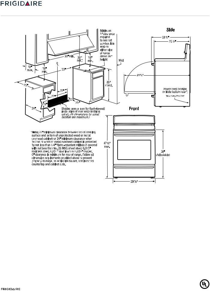 FRIGIDAIRE FFEF3011LW, FFEF3011LB User Manual
