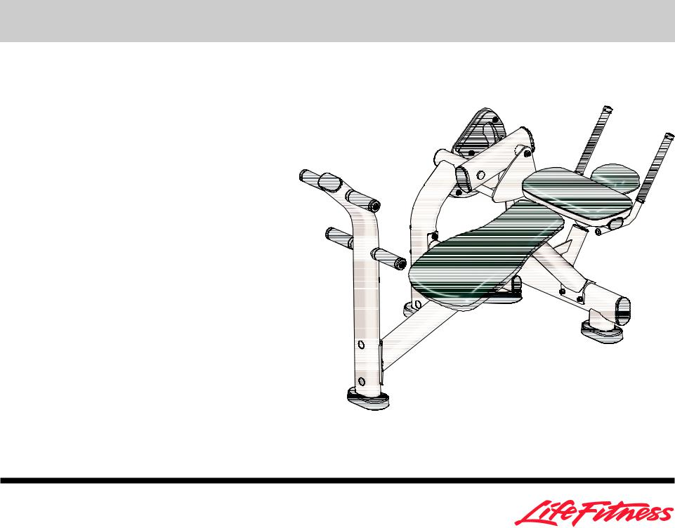 Life Fitness Ab Crunch Bench User Manual