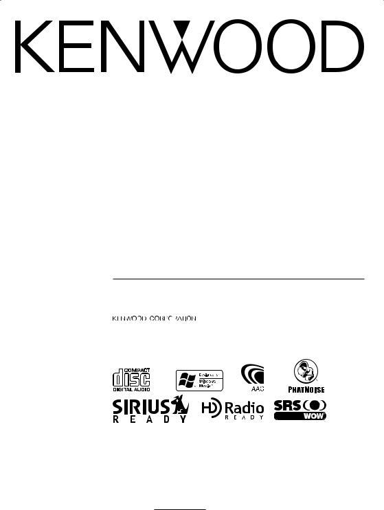 Kenwood eXcelon KDC-X889, eXcelon KDC-X789 User Manual