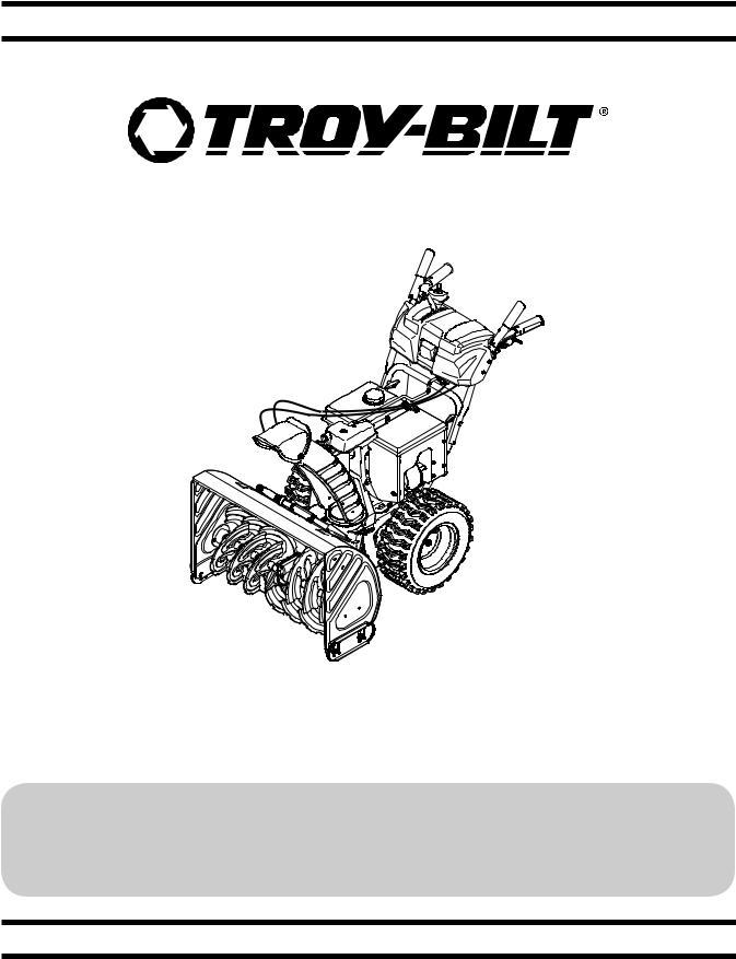 Troy-Bilt Storm 2690 XP, Storm 3090 XP User Manual