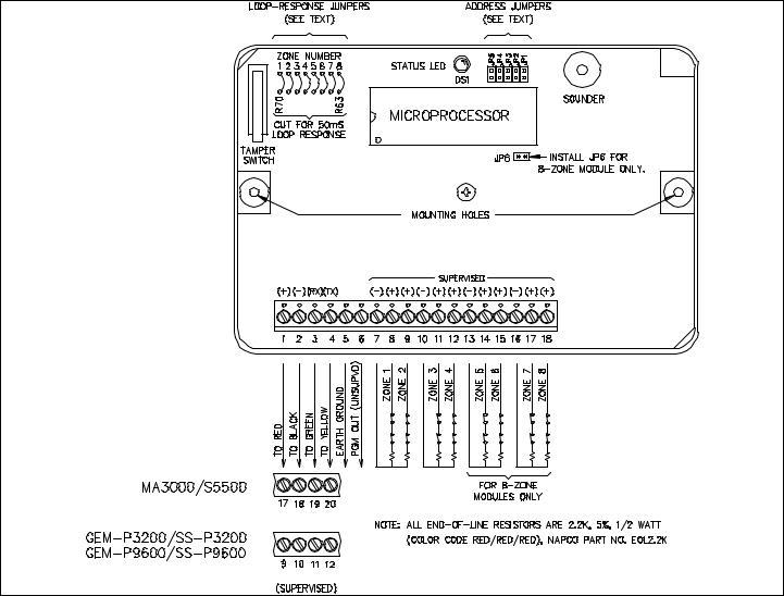 Napco Security Technologies MA3000, Signature 5500, SS-P