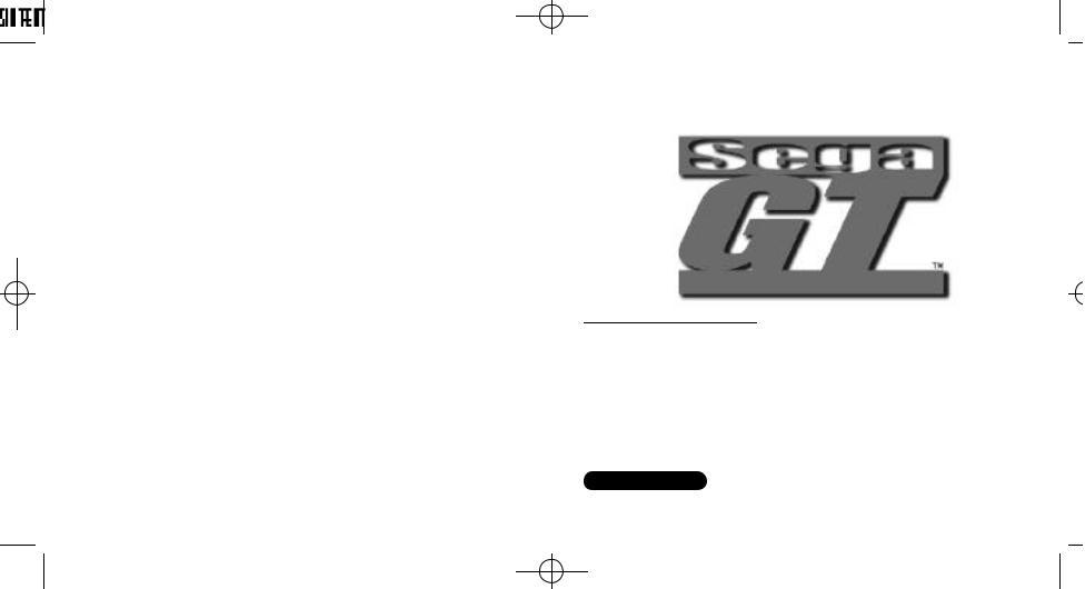 Games SEGA DREAMCAST SEGA GT User Manual