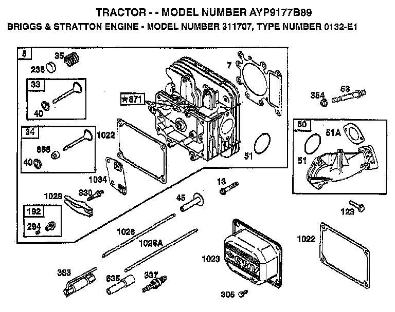 AYP 9177B89 Parts List
