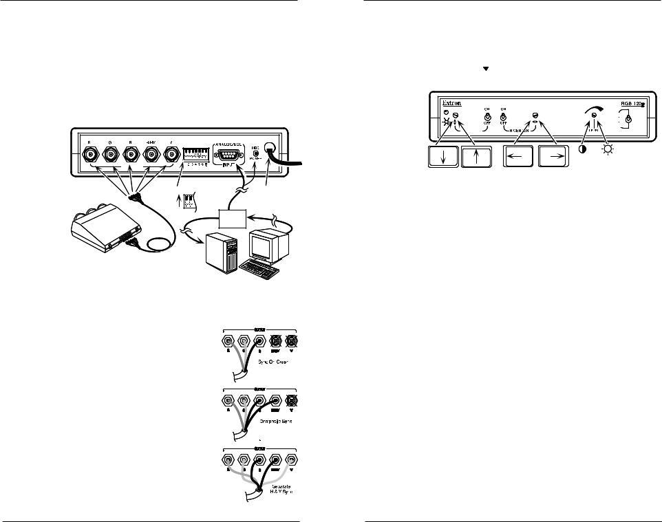Extron electronic Interface RGB 120p User Manual