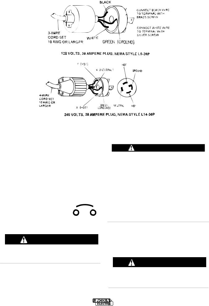 Lincoln Electric POWER ARC 5000 User Manual
