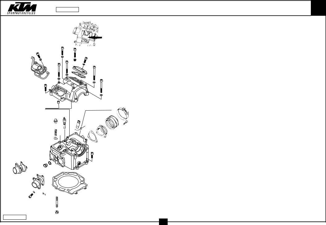 KTM LC4 2001 motor parts catalog Service Manual