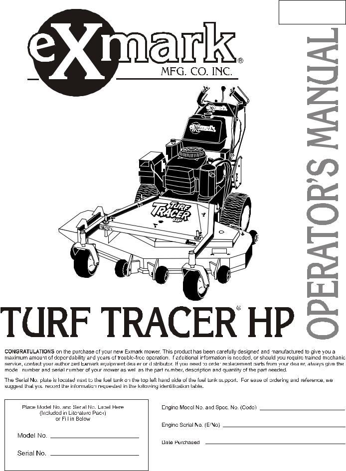 Exmark Turf Tracer HP User Manual