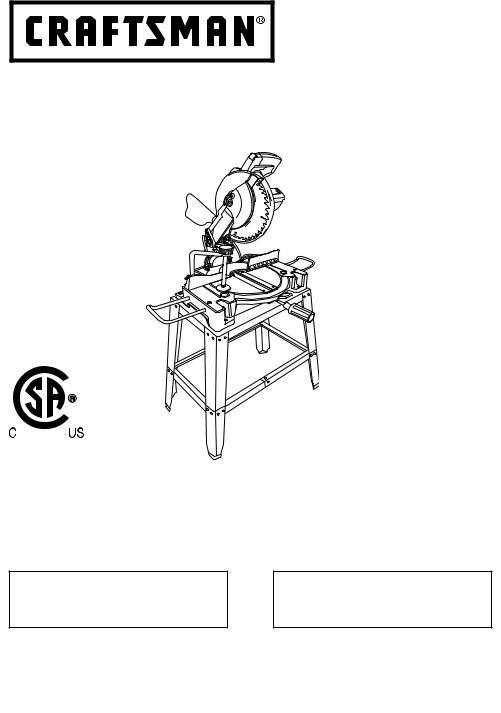 Craftsman 137212410 Owner's Manual (Espanol)