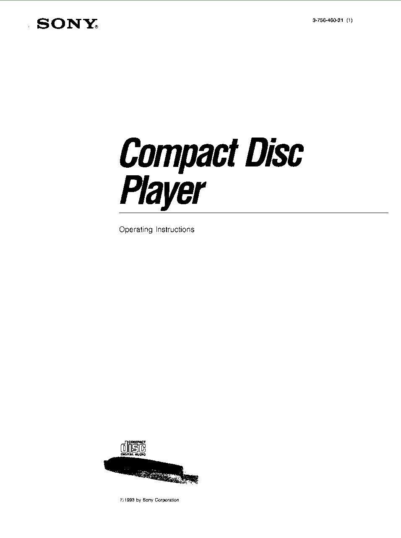 Sony CDP-C735 User Manual