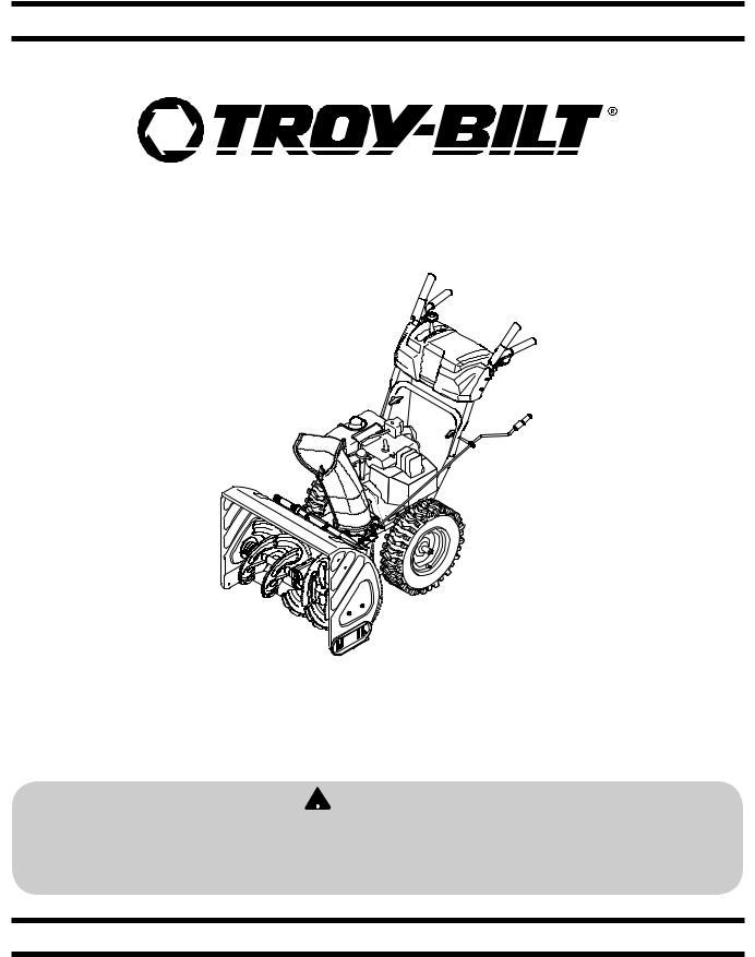 Troy-Bilt Storm 8526 User Manual