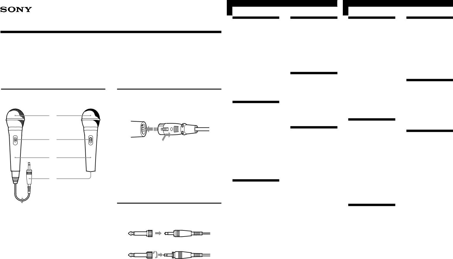 Sony F-V410, F-V710, F-V610, F-V310 User Manual