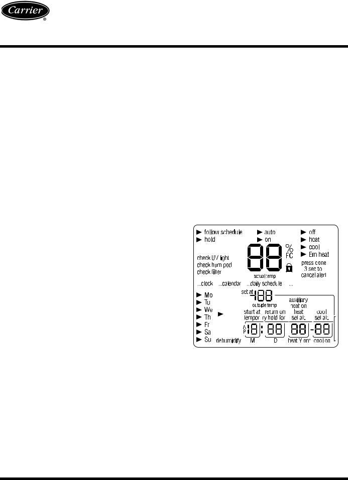 Carrier 33CS2PPRH-02 Owner's Manual