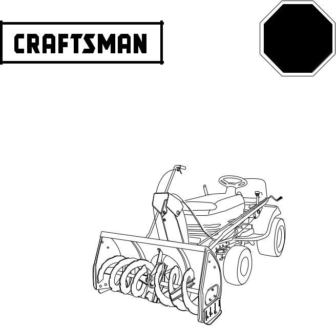 Craftsman 486.248381 User Manual