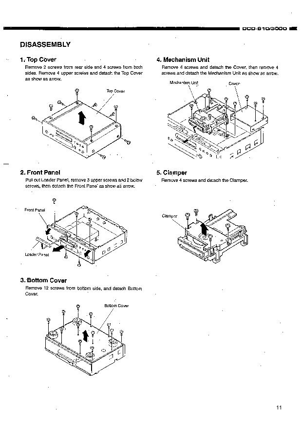Denon D DCD3000 S10 Service Manual