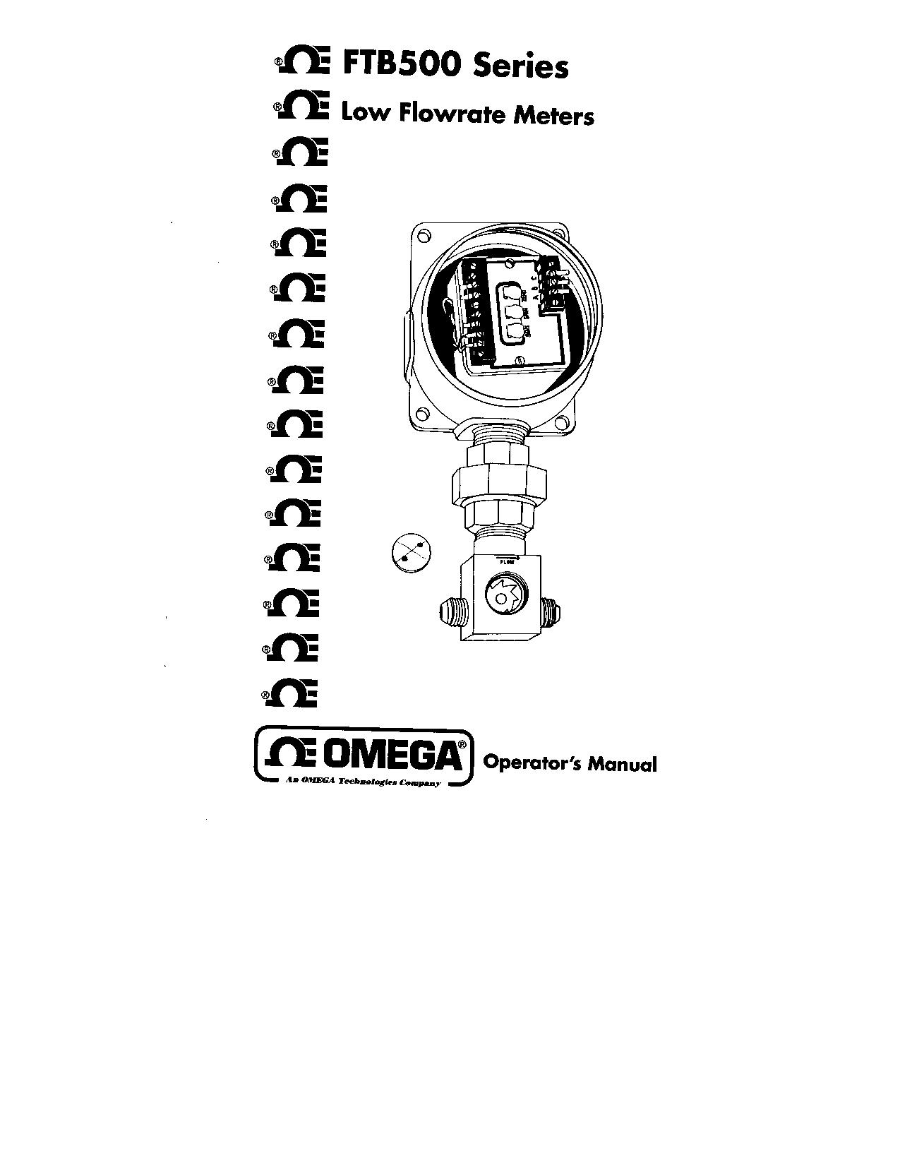 Omega FTB500 User Manual