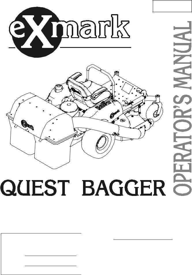 Exmark Quest Bagger User Manual