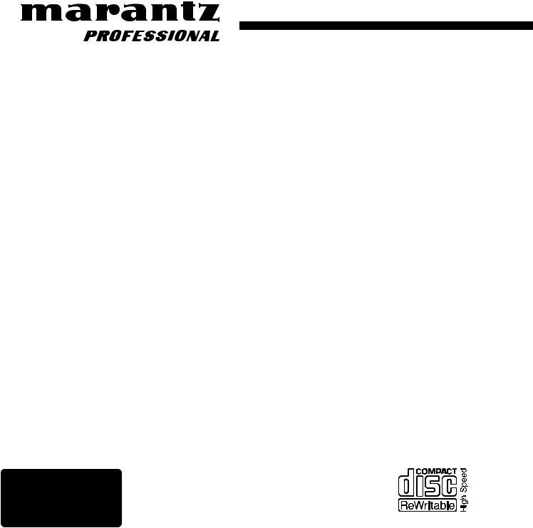 Marantz CDR632 User Manual