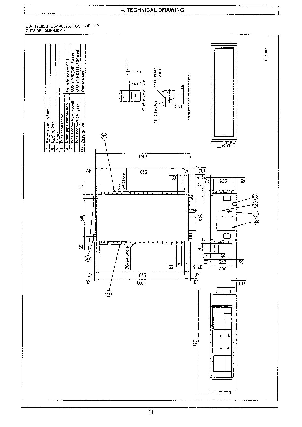 Panasonic CS-71E95JP (CU-71C52HP) PACD99104C0 Service Manual