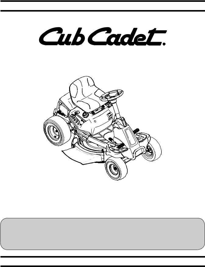 Cub cadet CC 30 H User Manual
