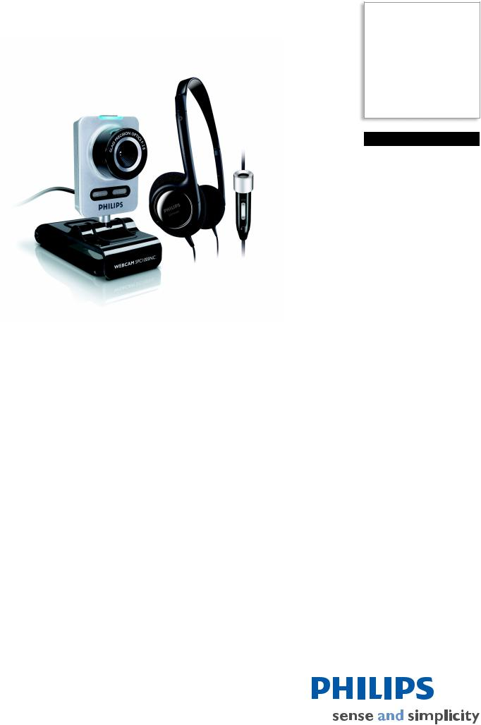 Philips Webcam SPC1005NC 1.3 MP CMOS User Manual