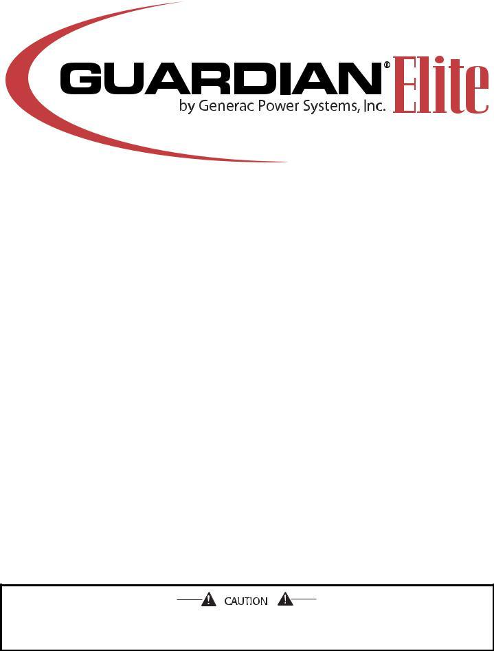 Generac GUARDIAN ELITE 005054-1, GUARDIAN ELITE 005054-0