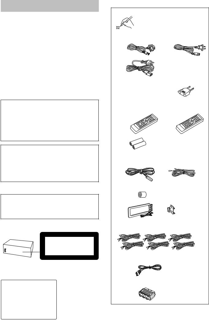 Technics SC-DV170 User Manual