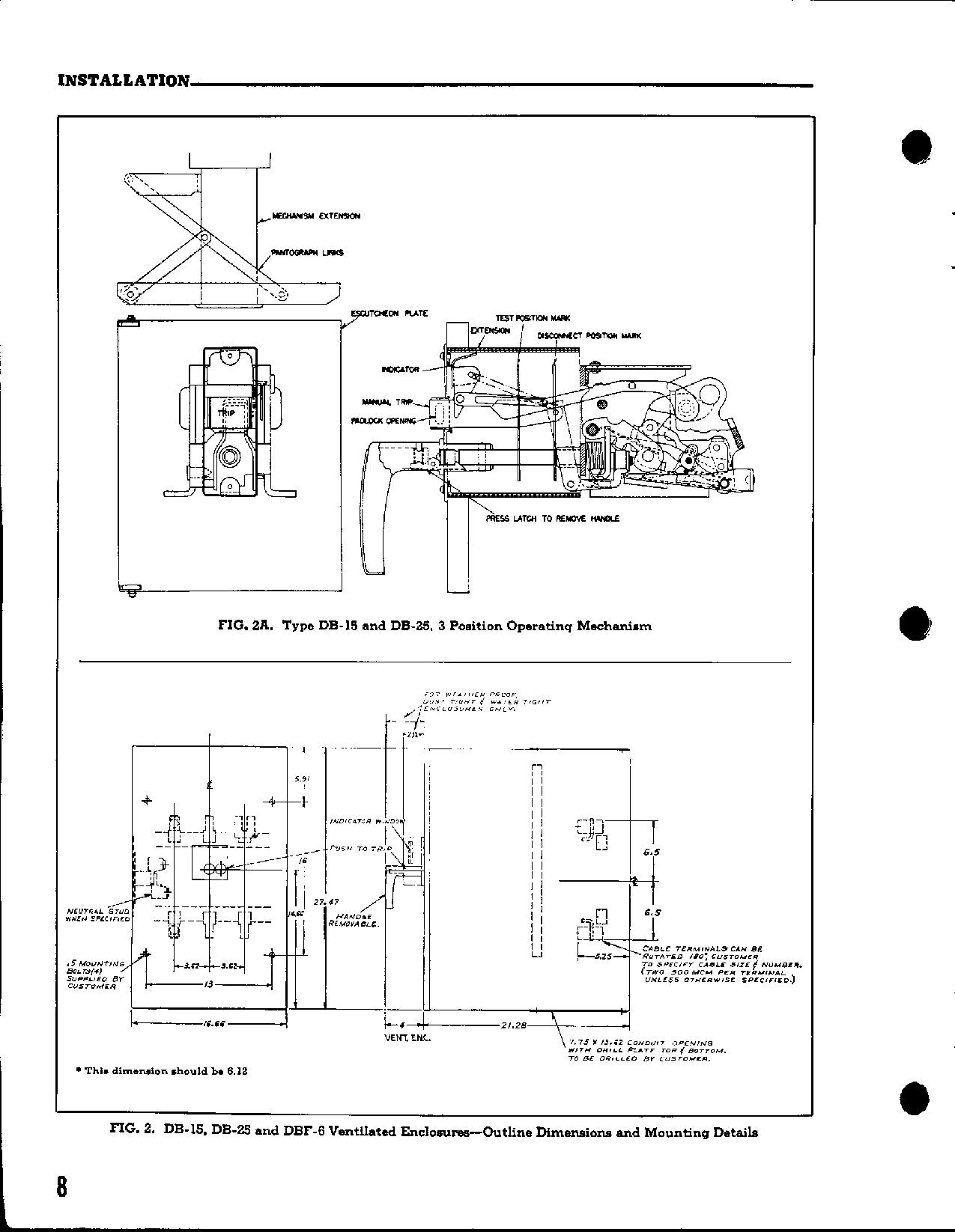 Westinghouse DB-F, DB-25, DBL-25, DB-15 User Manual