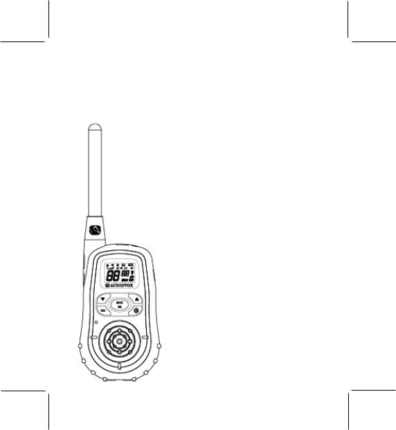 Audiovox GMRS2572CH User Manual