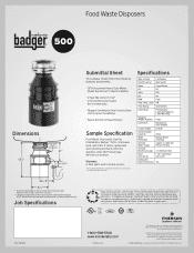 Insinkerator Badger 500 Manual : insinkerator, badger, manual, InSinkErator, Badger, Manual