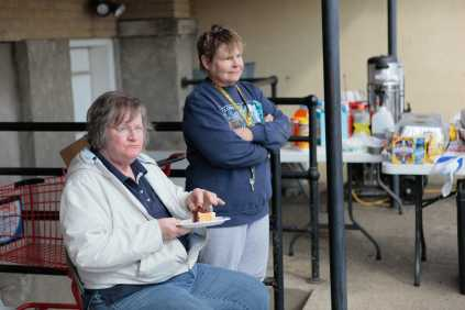 One woman who made a living as a caterer used excess food from the police department headquarters to cook massive quantities of free meals to give to anyone who asked for one.