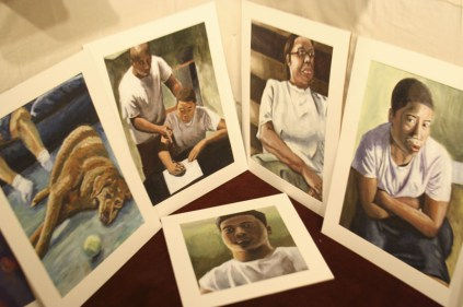 "Andre Scruggs, Semi- Finalist ""Looking at my body of work I feel that I am pursuing well painted depictions of my family. My family to me is everything and they are my inspiration for most of my work. I as well like to incorporate different ways that I use light from painting to painting. I enjoy creating art when I have some sort of motivation and drive and my family allows me to produce works with those feelings."" photo by Keri Dearmond"