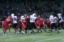 Players make contact against Seneca on Friday, September 21, 2012. Photo by Jacqueline Leachman