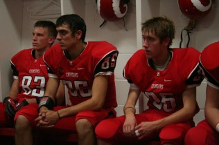 Players prepare for the game. photo by Destony Curry
