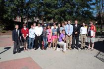 Mr. Garrett and his Military History class at the University of Louisville.
