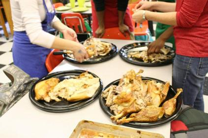 Thanksgiving dinner in foods by Ms. Laura Spiegelhalter. Photo by Alexis Weaver