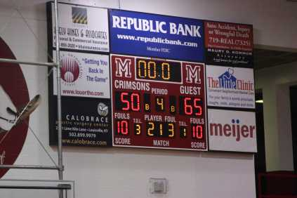 Final score of the Manual vs Jeffersontown varsity boys basketball game