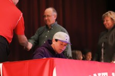 Ben Hachten (12) signs to play baseball with Truman State University.