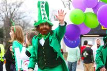 To create a more St. Patrick's Day feel, this man dressed up as a leprechaun. Photo by Molly Loehr