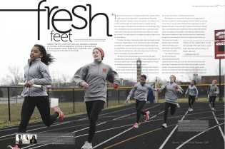 The Track and Field spread, which features a freshman runner and how her sport has affected her